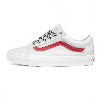 VANS Old Skool Checker Laces (Red/True White)